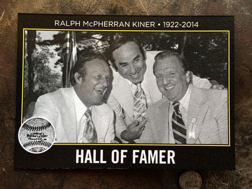 2014 SlangKo Ralph Kiner Hall of Famer front