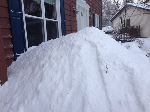 Mid Winter Snow Pile
