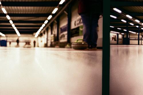 eye film analog 35mm schweiz switzerland xpro fuji view cross floor low ground down olympus f rats processing 100 xa process expired fujichrome processed halle curling moning astia 100f sanktgallen uzwil markusmoning curlinghalle