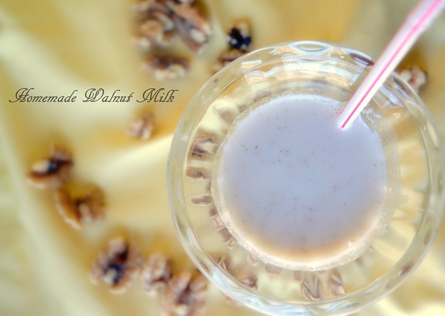 Homemade Walnut Milk
