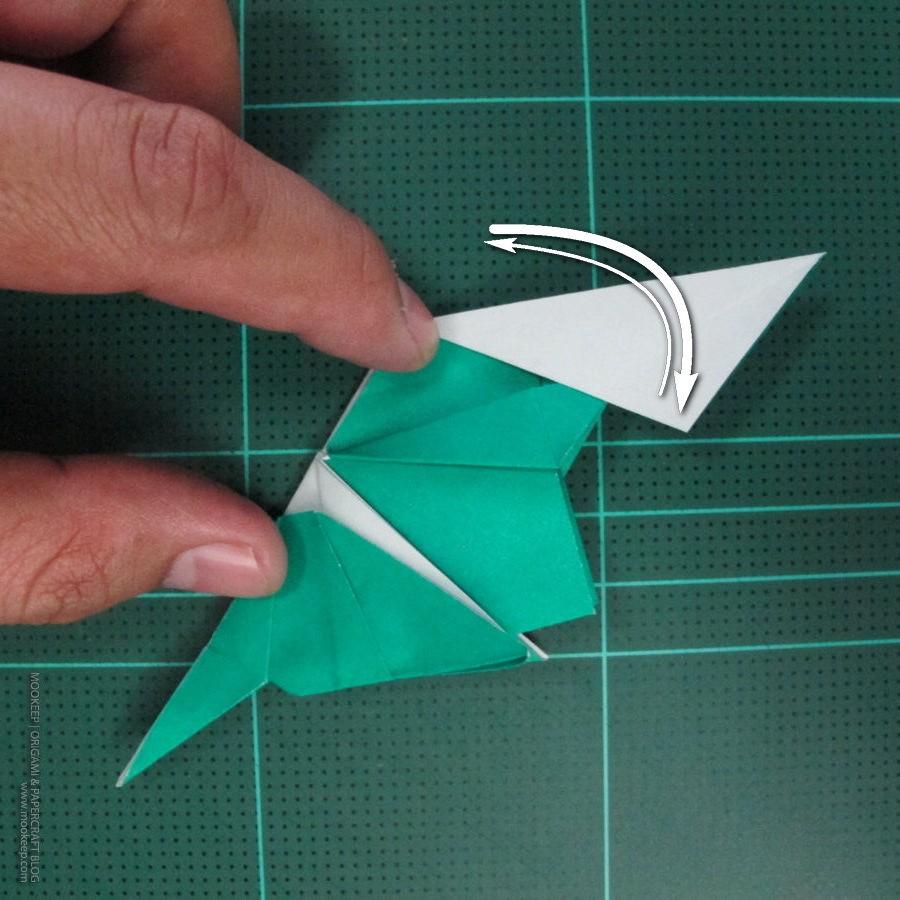 วิธีพับกระดาษเป็นรูปหมู (Origami Pig) 026