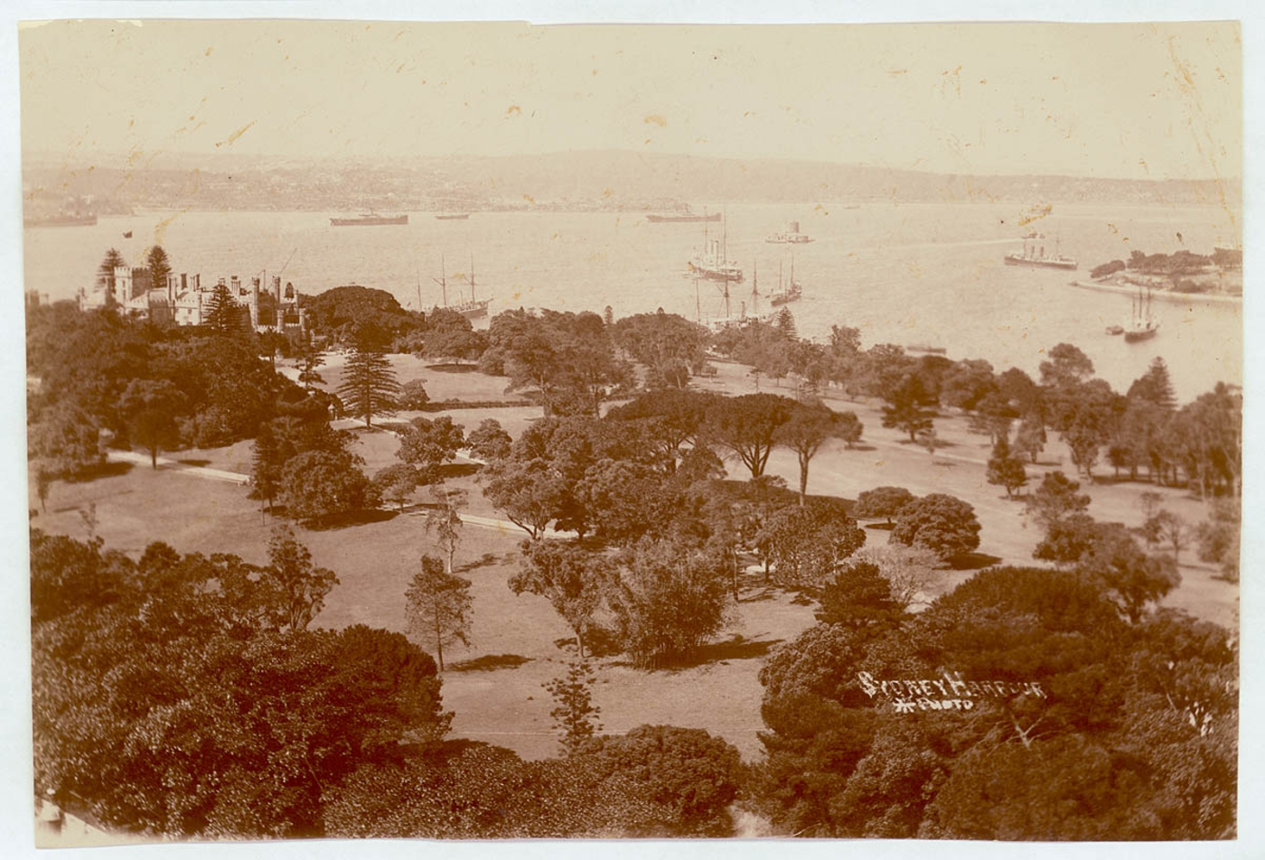 Sydney Harbour [including Botanical Gardens, Government House and Fort Denison], c. 1900-1910, Star Photographic Co.