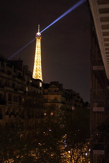 View of Eiffel Tower from Hotel Eber Mars