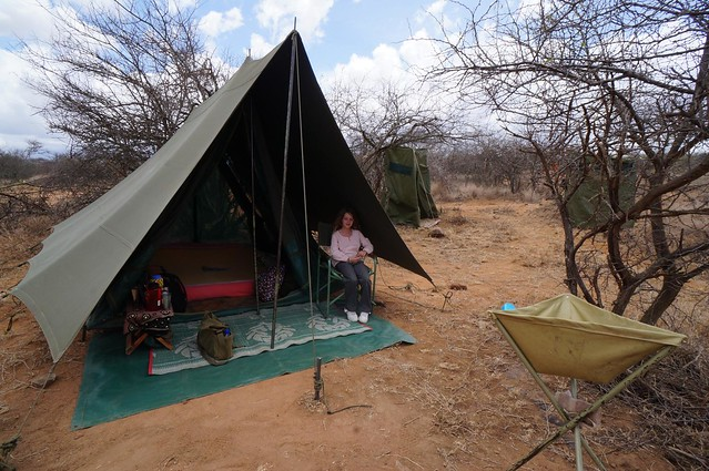 Luxury Tent Set Up at Karisia Walking Safaris