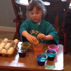Big #sister did too! #eggs #concentrating