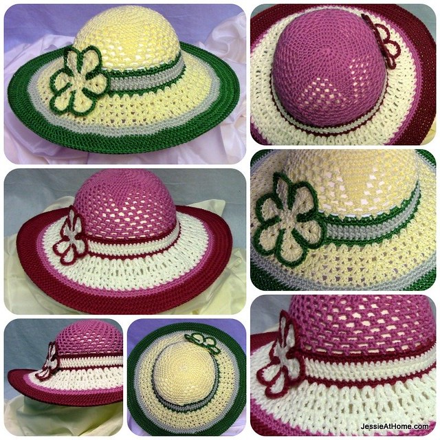 Free-Crochet-Pattern-Be-A-Start-Child's-Sun-Hat