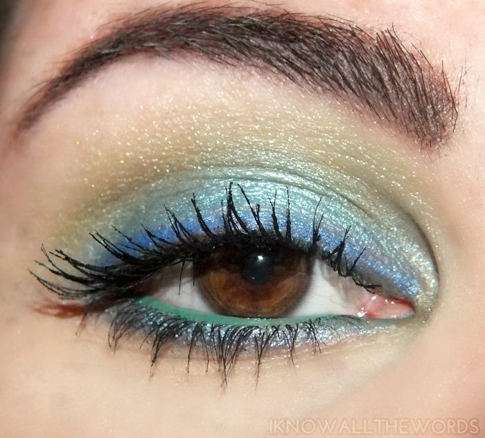 mark neon gaze eyeshadows in neon gaze and sun flash on eyes
