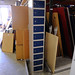 Blue tall lockers
