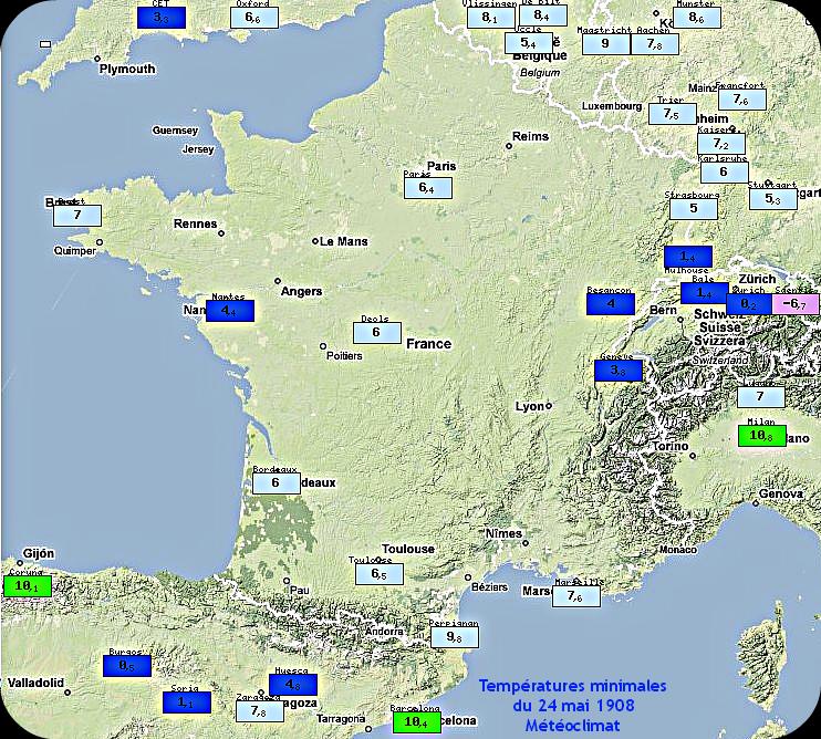 températures maximales et records de fraîcheur du 16 mai 1926 météopassion