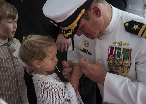USS Sampson Holds Change of Command in San Diego