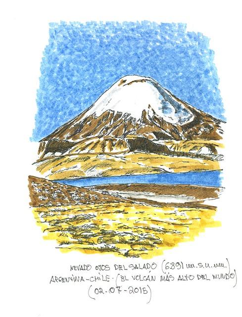 Nevado Ojos del Salado (entre Argentina y Chile)