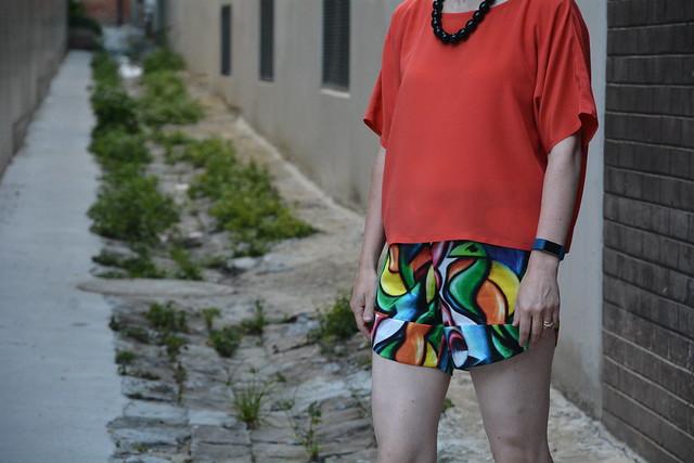Megan Nielsen's Reef Shorts & Nani Iro Top (Pattern D)