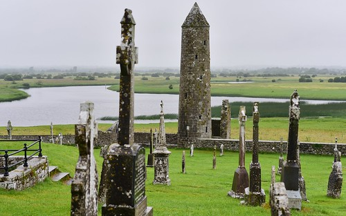12thcenturyad 5441552ad 1124ad abandoned abbey archaia architecture cemetery clonmacnoise countyoffaly desktop featured ireland medieval orourkestower ruins