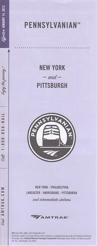 Amtrak Pennsylvanian 2013 Cover