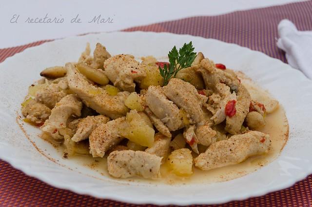 pollo salteado con piña (2)