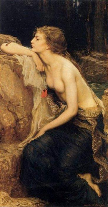 Lamia. Obra de Herbert Draper (1864-1920)