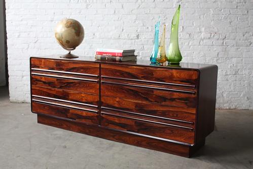 Irresistible Westnofa Mid Century Modern Rosewood Long Dresser (Norway, 1960s)