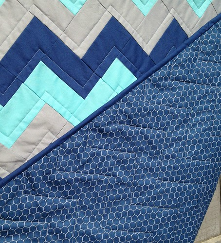 Zig-Zag Baby quilting detail