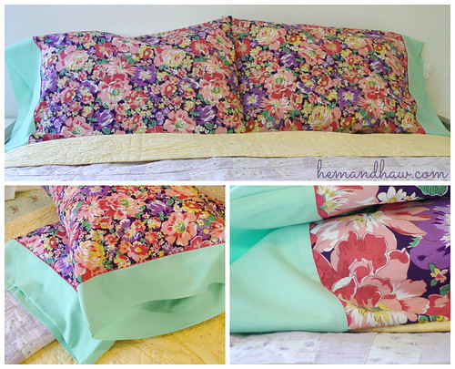 Pretty pillowcases DIY