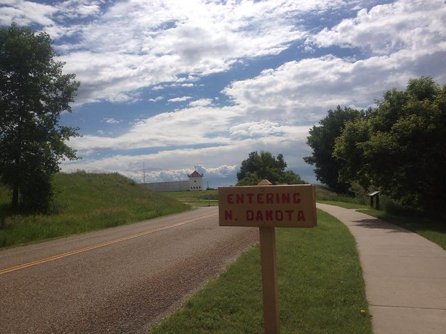 North Dakota border