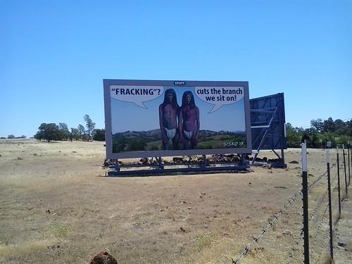 fracking billboard skyway chico
