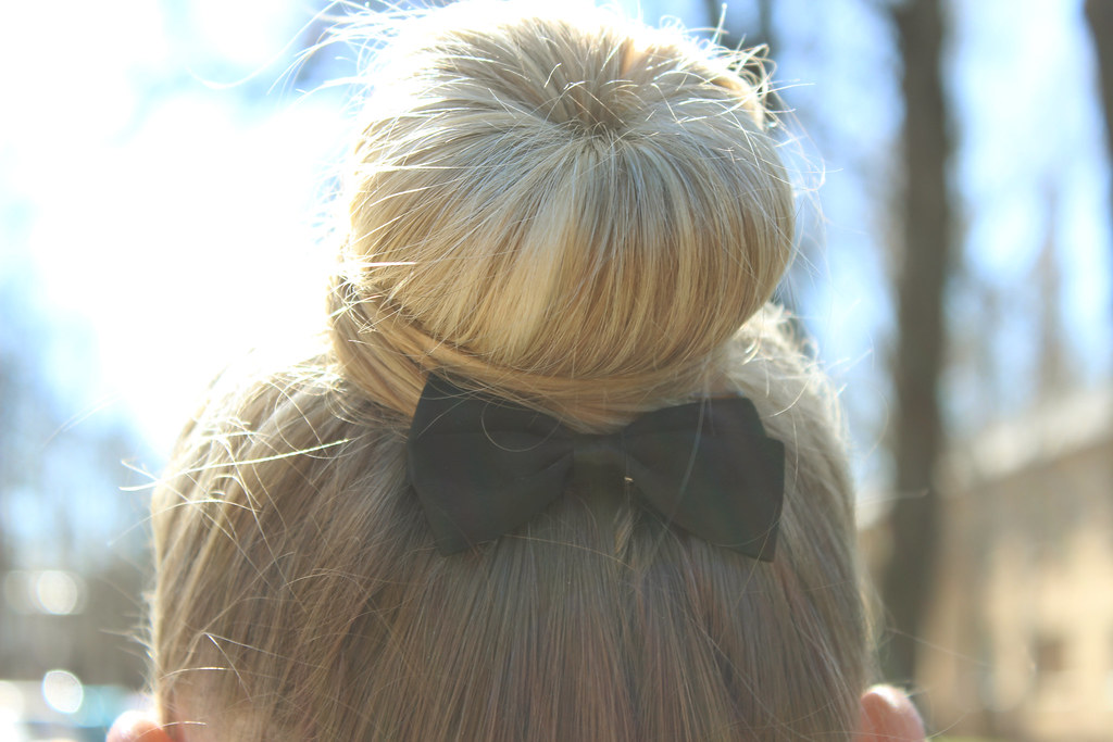 ballerina, bun, bow, cute, hairstyle