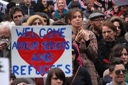 Welcome asylum seekers and refugees - Refugee Action protest 27 July 2013 Melbourne by Takver, on Flickr