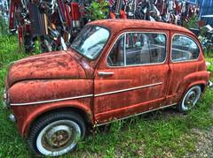 off-road vehicle(0.0), automobile(1.0), vehicle(1.0), fiat 600(1.0), seat 600(1.0), city car(1.0), zastava 750(1.0), antique car(1.0), vintage car(1.0), land vehicle(1.0), motor vehicle(1.0),
