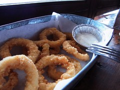frying, deep frying, fried food, seafood, onion ring, food, dish, cuisine,