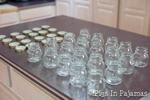 Spice jars -- cleaned