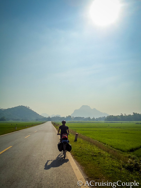 A Cruising Couple Cycling Ho Chi Min Highway Vietnam