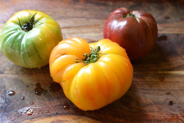 Heirloom Tomato Bruschetta via LittleFerraroKitchen.com