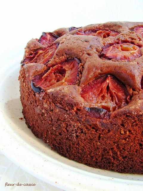 пирог сливово-шоколадный 1