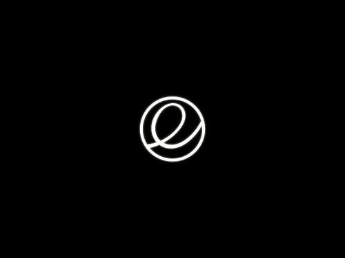 Логотип elementary OS при загрузке
