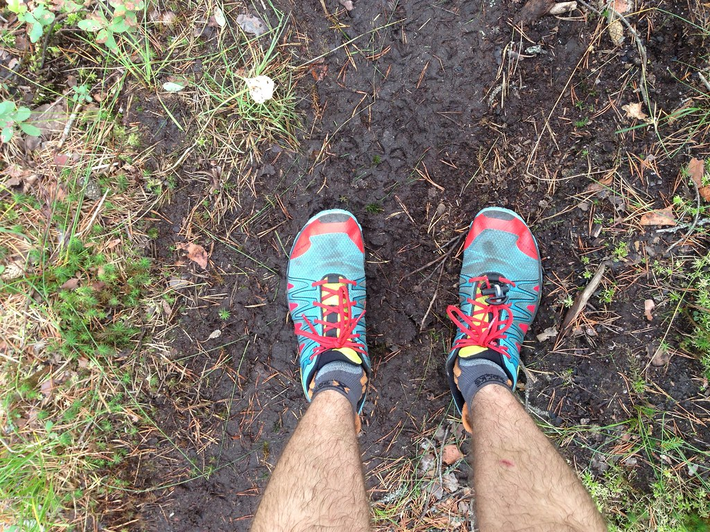 There were soft muddy trails