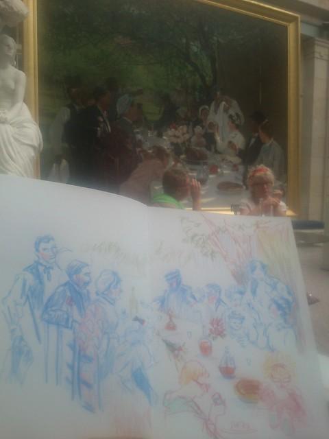 Normandy Holidays Homework #3 - Déjeuner dans un tableau à Rouen (Musée des Beaux Arts)