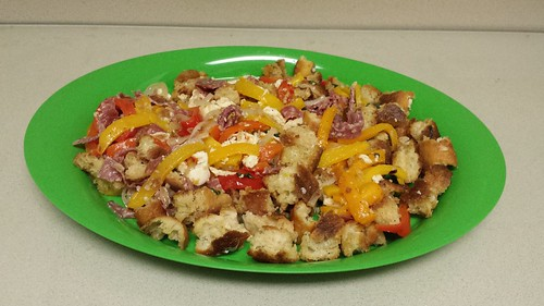 Roasted Pepper Panzanella Sara B