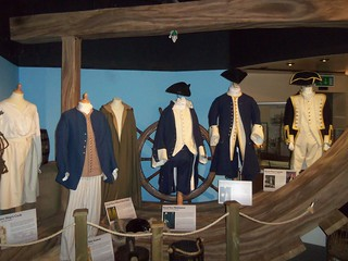 Replica Naval uniforms - new displays at the Captain Cook Birthplace Museum
