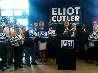 Eliot Cutler at Campaign Announcement Event in Portland