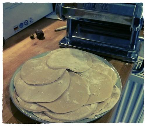 making dumpling pasta