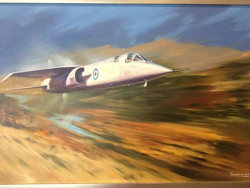 Super Striker - BAC TSR2 (tactical strike reconnaissance aircraft) passg thru sound barrier during flight trials at Boscombe Down 1964