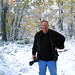 Jeff in September snow by jaki good miller