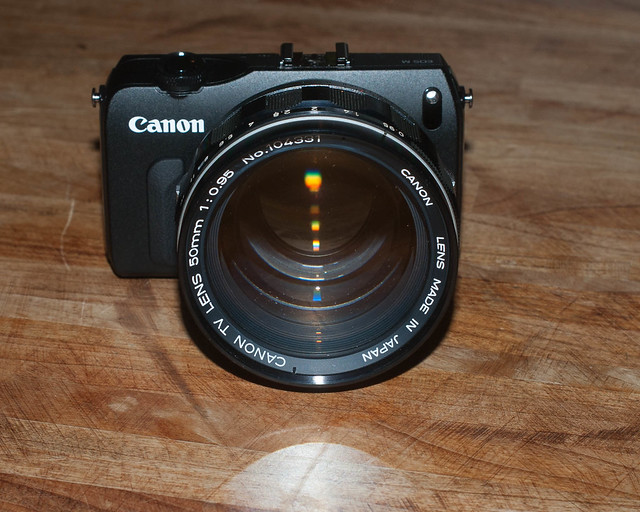 Canon 50mm f/0.95 TV lens on EOS-M