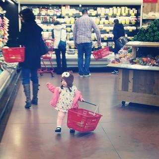 Little girl, big world.