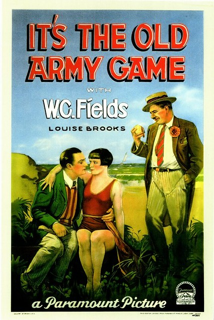 wc fields old army game poster