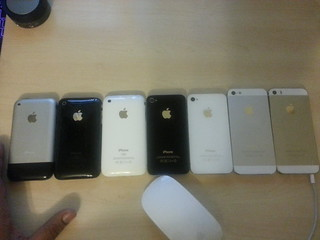 Evolution of the iPhone. 2007-2013