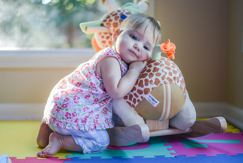 Reese Loves Her Rocking Giraffe