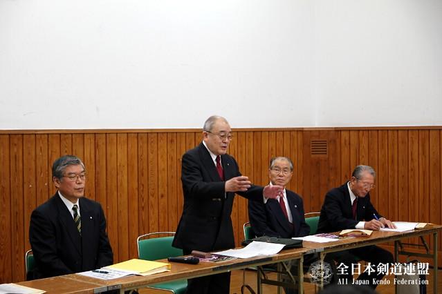 第61回全日本剣道選手権大会_審判会議_奥島快男審判長
