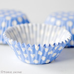 Periwinkle spot cupcake cases