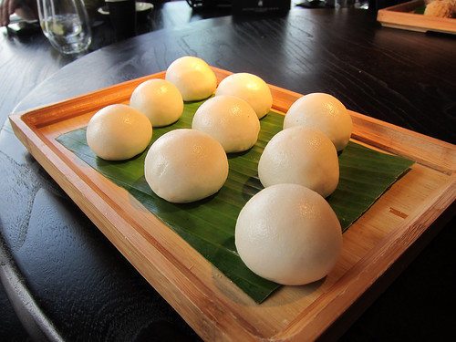 Steamed egg custard buns